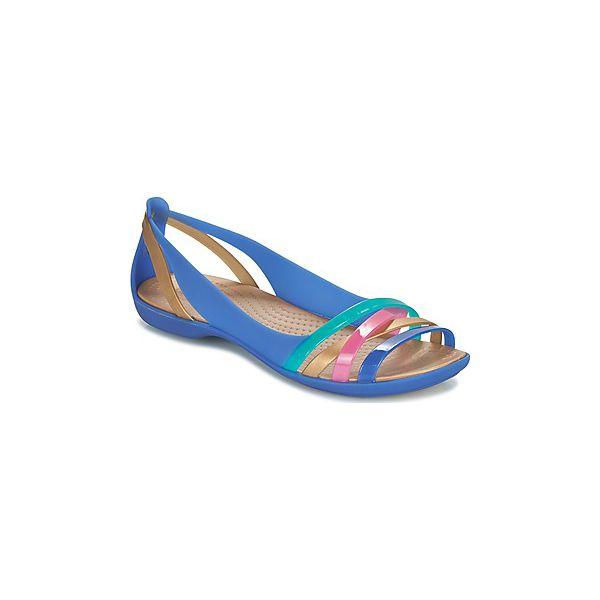 6ecdafcb9 Sandały Crocs ISABELLA HUARACHE 2 FLAT W - Niebieskie sandały ...