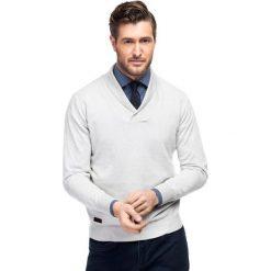 SWETER SWP000051 ALESSANDRO. Brązowe swetry klasyczne męskie Giacomo Conti, m, z bawełny. Za 299,00 zł.