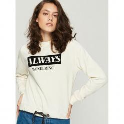Bluza z nadrukiem - Kremowy. Białe bluzy z nadrukiem damskie Sinsay, l. Za 49,99 zł.