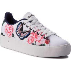 Sneakersy DESIGUAL - Star Sailor 18SSKF01 5074. Białe sneakersy damskie marki Desigual, z materiału. W wyprzedaży za 259,00 zł.