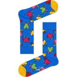 Skarpetki Happy Socks Keith Haring (KEH01-6001). Niebieskie skarpetki męskie Happy Socks, z bawełny. Za 39,99 zł.