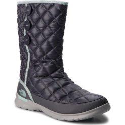 Śniegowce THE NORTH FACE - Thermoball Button-Up T92T5K5QC Shiny Blackened Pearl/Blue Haze. Szare buty zimowe damskie The North Face, z materiału. W wyprzedaży za 239,00 zł.