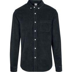 Urban Classics Corduroy Shirt Koszula czarny. Białe koszule męskie na spinki marki bonprix, z klasycznym kołnierzykiem, z długim rękawem. Za 164,90 zł.