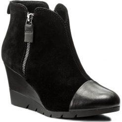 Botki LASOCKI - A206 Czarny. Czarne buty zimowe damskie Lasocki, ze skóry, na obcasie. W wyprzedaży za 125,00 zł.