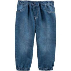 Spodnie niemowlęce: Jeansy ze ściągaczami dla niemowlaka
