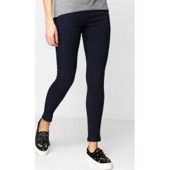 Spodnie damskie: Granatowe Spodnie Decorative