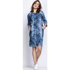 Niebieska Sukienka Lost The Love. Niebieskie sukienki marki Born2be, na jesień, z jeansu. Za 69,99 zł.
