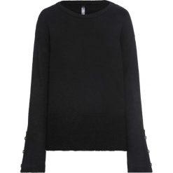 Sweter dzianinowy z guzikami w optyce masy rogowej: must have bonprix czarny. Czarne swetry klasyczne damskie marki bonprix, z dzianiny. Za 109,99 zł.