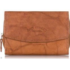 Brązowy Skórzany portfel damski Bag Street. Brązowe portfele damskie Bag Street, ze skóry. Za 59,00 zł.