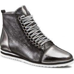 Botki R.POLAŃSKI - 0774/N Grafit/Grafit Przec. Czarne buty zimowe damskie marki R.Polański, ze skóry, na obcasie. W wyprzedaży za 249,00 zł.
