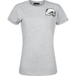 Cosmic Scream Queen Koszulka damska szary. Szare bluzki z odkrytymi ramionami marki Cosmic, s, z nadrukiem, z okrągłym kołnierzem. Za 49,90 zł.