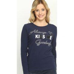 Bluzki asymetryczne: Granatowa Bluzka Always Kiss