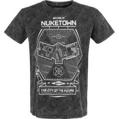 Call Of Duty Welcome to Nuketown T-Shirt ciemnoszary. Szare t-shirty męskie z nadrukiem Call Of Duty, xl, z okrągłym kołnierzem. Za 62,90 zł.
