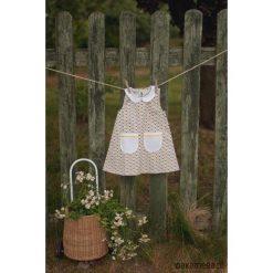 Sukienka Sunflower. Szare sukienki dziewczęce letnie marki Pakamera, z bawełny, wizytowe. Za 119,00 zł.