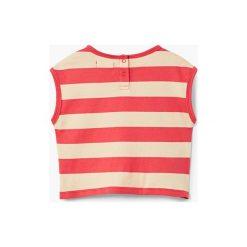 Mango Kids - Top dziecięcy Elia 80-104 cm. Białe bluzki dziewczęce marki Mango Kids, z bawełny, z okrągłym kołnierzem, bez rękawów. W wyprzedaży za 12,90 zł.