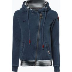 Bluzy rozpinane damskie: Khujo - Damska bluza rozpinana – Nordika, niebieski