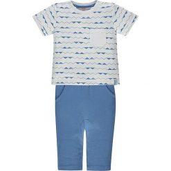 2-częściowy zestaw w kolorze biało-niebieskim. Białe t-shirty chłopięce marki Kanz. W wyprzedaży za 42,95 zł.