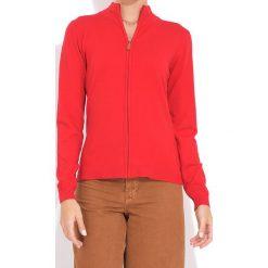 Kardigan w kolorze czerwonym. Czerwone kardigany damskie marki William de Faye, z kaszmiru. W wyprzedaży za 113,95 zł.