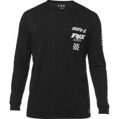 FOX T-Shirt Męski Traktion Knit M Czarny. Czarne t-shirty męskie FOX, m, z nadrukiem, z kontrastowym kołnierzykiem. Za 184,00 zł.