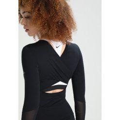 Nike Performance DRY WRAP Koszulka sportowa black/black. Czarne t-shirty damskie Nike Performance, xl, z elastanu, z długim rękawem. W wyprzedaży za 161,10 zł.