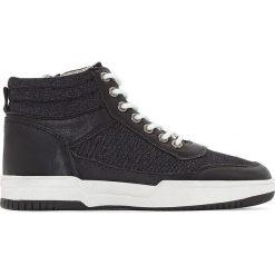 Wysokie trampki jeansowe 28-35. Czarne buty sportowe chłopięce La Redoute Collections, z jeansu, sportowe. Za 141,08 zł.