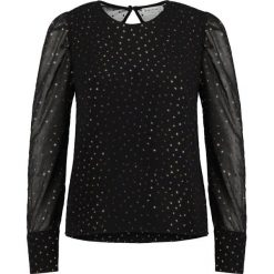Bluzki damskie: Warehouse GLITTER PUFF SLEEVE  Bluzka black/gold