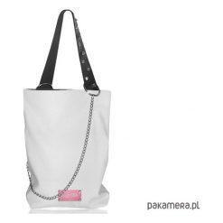 SHOPPER skóra naturalna BIAŁY. Białe shopper bag damskie Pakamera, ze skóry, na ramię. Za 255,00 zł.