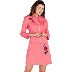 Sukienki hiszpanki: Sukienka w kolorze jasnoczerwonym