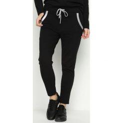 Spodnie damskie: Czarne Spodnie Dresowe Willow