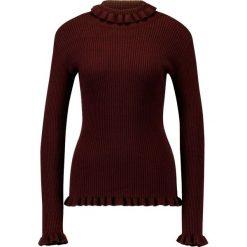 Swetry klasyczne damskie: YAS YASODA  Sweter decadent chocolate