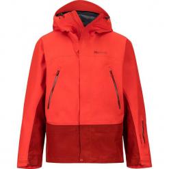 """Kurtka narciarska """"Spire"""" w kolorze czerwono-pomarańczowym. Brązowe kurtki narciarskie męskie marki Marmot, m, z materiału. W wyprzedaży za 955,95 zł."""