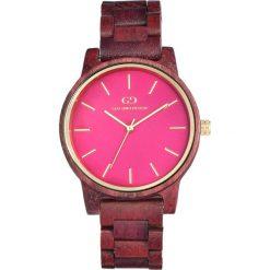 Zegarek Giacomo Design Drewniany damski (GD08202). Różowe zegarki damskie Giacomo Design. Za 496,21 zł.