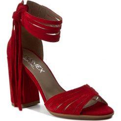 Rzymianki damskie: Sandały ANN MEX – 7904 14W Czerwony
