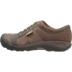 Keen AUSTIN Obuwie hikingowe brindle/bungee cord. Brązowe buty sportowe męskie marki Keen, z materiału, outdoorowe. Za 459,00 zł.