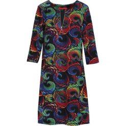 Czarno-Zielona Sukienka Periodical. Sukienki małe czarne marki Reserved, z wiskozy. Za 59,99 zł.