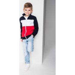 Bluzy chłopięce rozpinane: BLUZA DZIECIĘCA ROZPINANA BEZ KAPTURA KB004 - GRANATOWA