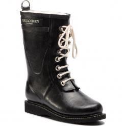 Kalosze ILSE JACOBSEN - RUB15 Black 01. Brązowe buty zimowe damskie marki Alma en Pena, z materiału, na obcasie. W wyprzedaży za 429,00 zł.