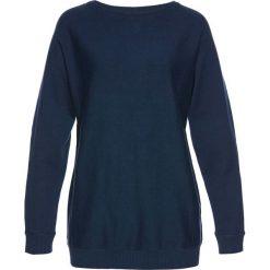 Swetry klasyczne damskie: Sweter z rękawami typu nietoperz bonprix ciemnoniebieski