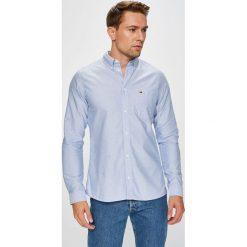 Tommy Jeans - Koszula. Szare koszule męskie jeansowe marki Tommy Jeans, l, button down, z długim rękawem. Za 269,90 zł.