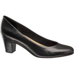Czółenka damskie 5th Avenue czarne. Czarne buty ślubne damskie 5th Avenue, z gumy, na obcasie. Za 179,90 zł.
