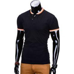 T-SHIRT MĘSKI BEZ NADRUKU S661 - CZARNY. Szare t-shirty męskie z nadrukiem marki Ombre Clothing, m, z bawełny, ze stójką. Za 29,00 zł.