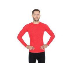 Koszulki sportowe męskie: Brubeck Koszulka męska z długim rękawem ACTIVE WOOL pomarańczowa r.  L (LS12820)