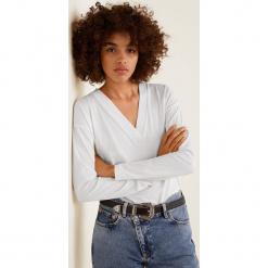 Mango - Bluzka Eco. Szare bluzki z odkrytymi ramionami marki Mango, l, z bawełny, casualowe. Za 49,90 zł.