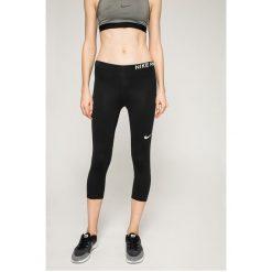 Nike - Legginsy. Szare legginsy skórzane Nike, l. W wyprzedaży za 119,90 zł.