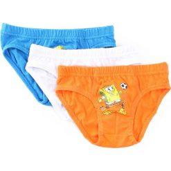3-pack Niebiesko-Pomarańczowe Majtki Know Time. Brązowe bielizna chłopięca Born2be. Za 24,99 zł.