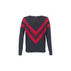 Swetry Tommy Hilfiger  PARLIE-V-NK-SWTR. Niebieskie swetry klasyczne damskie TOMMY HILFIGER, l. Za 527,20 zł.
