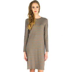 Odzież damska: Sukienka midi Rabarbar we wzory