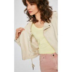 Answear - Kurtka Garden of Dreams. Szare kurtki damskie ramoneski marki ANSWEAR, l, w paski, z elastanu. W wyprzedaży za 129,90 zł.