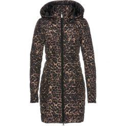 Płaszcz pikowany z nadrukiem bonprix czarno-cappuccino z nadrukiem. Czarne płaszcze damskie bonprix, z nadrukiem. Za 189,99 zł.