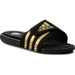 Chodaki męskie: Klapki adidas - adissage CM7924  Cblack/Goldmt/Cblack